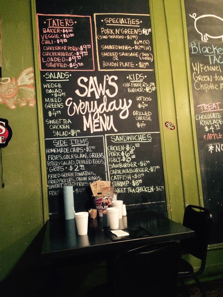 saws juke menu