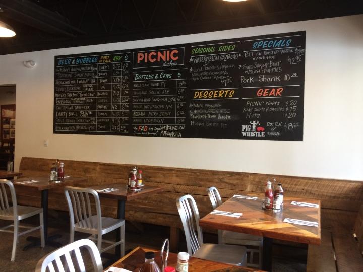 picnic beer menu etc