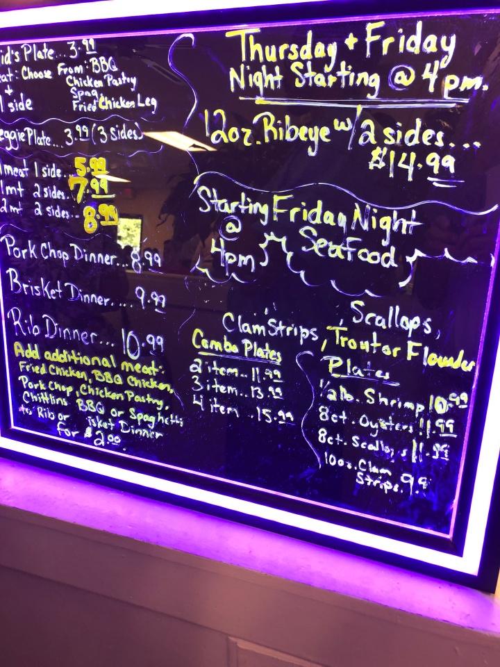 hunter hill menu