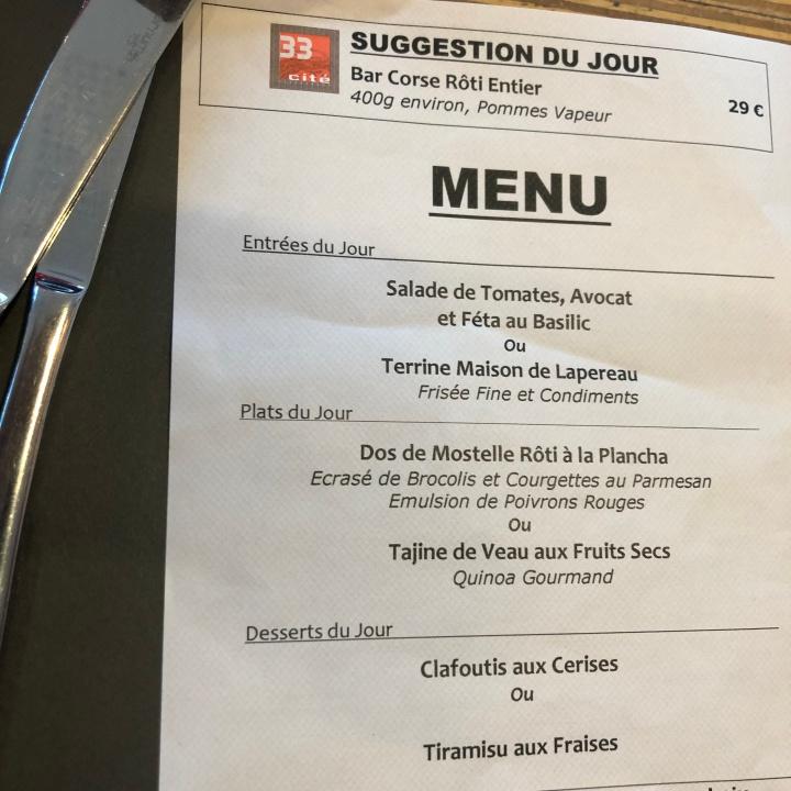 cite menu